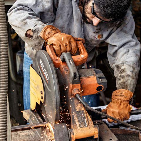 Blue-collar worker, Angle grinder, Machine, Metalsmith, Circular saw, Tool, Ironworker, Welder, Auto mechanic, Power tool,
