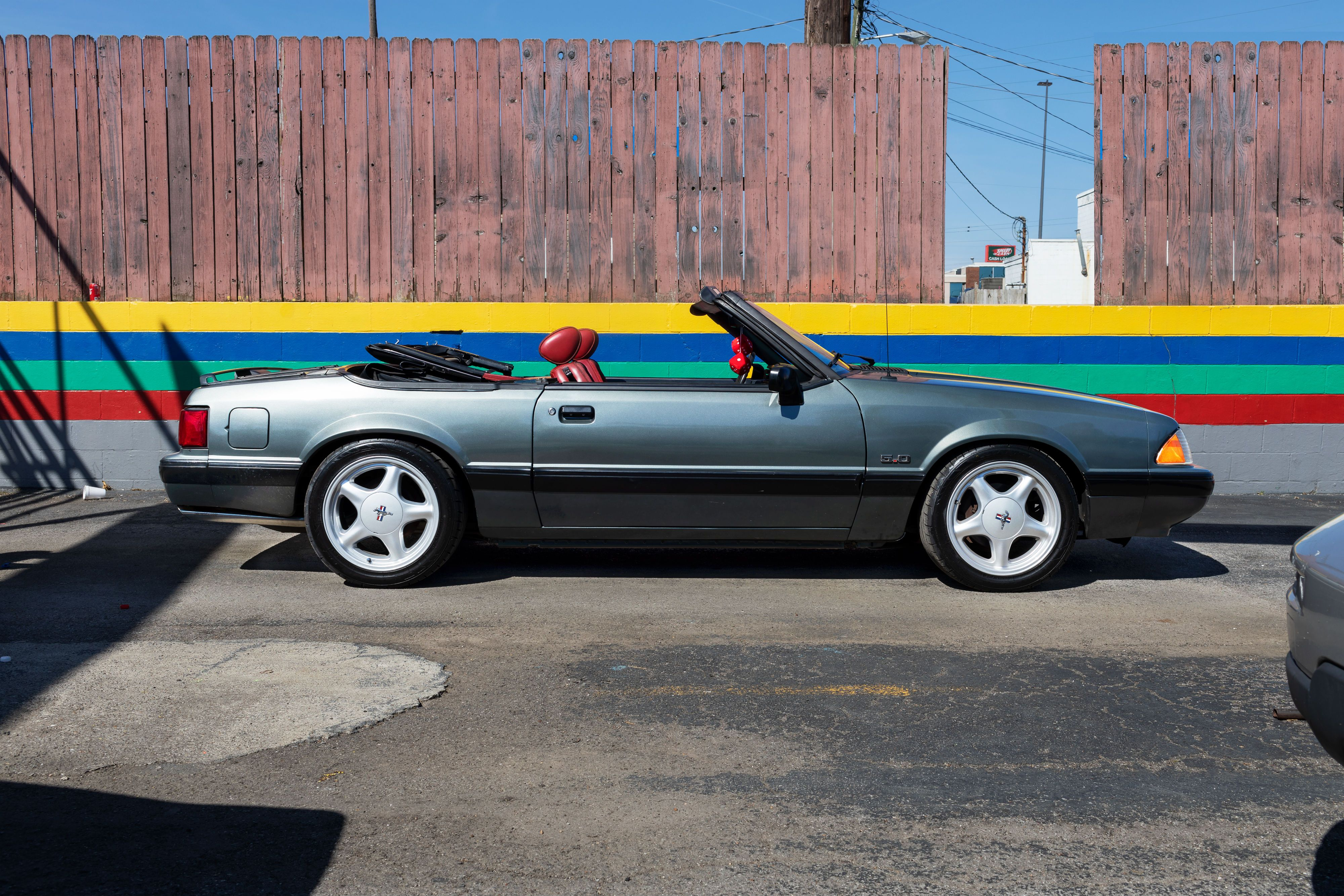 The classic of 80s muscle 1988 mustang lx convertible