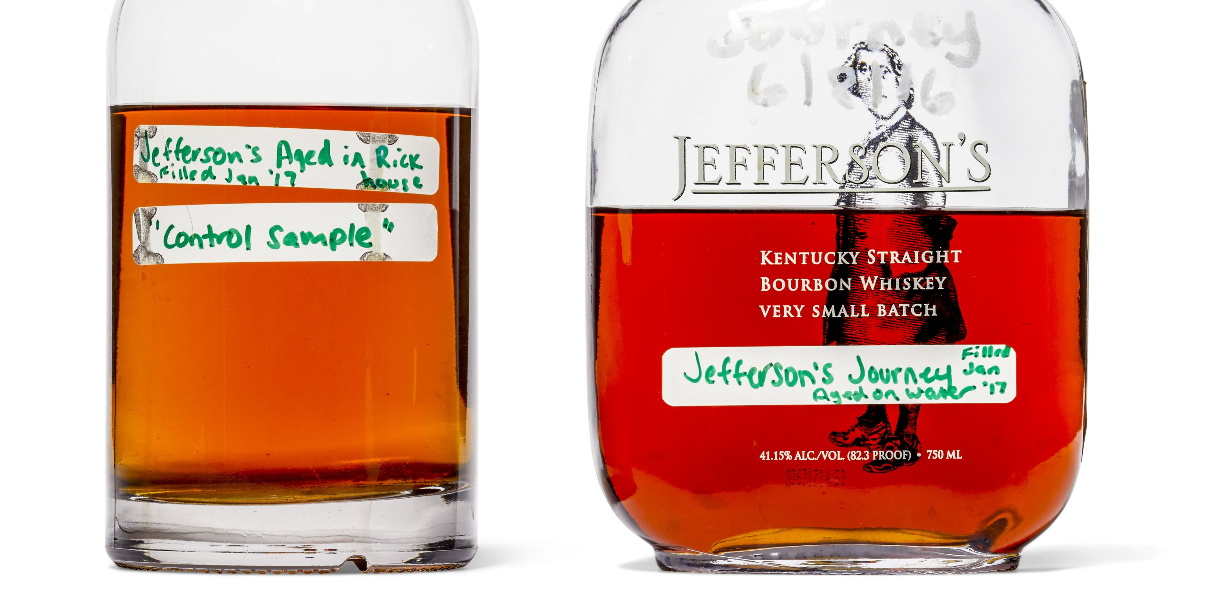 bourbon whiskey bottles.
