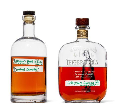 bourbon whiskey bottles.