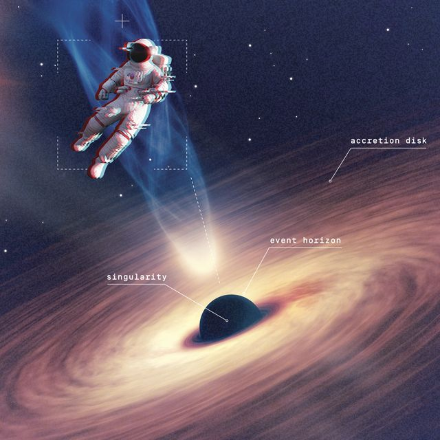 supermassive black holes are ideal for visiting, but 1 in 1,000, as illustrated, have dangerous accretion disks and blast jets of particles at near light speed