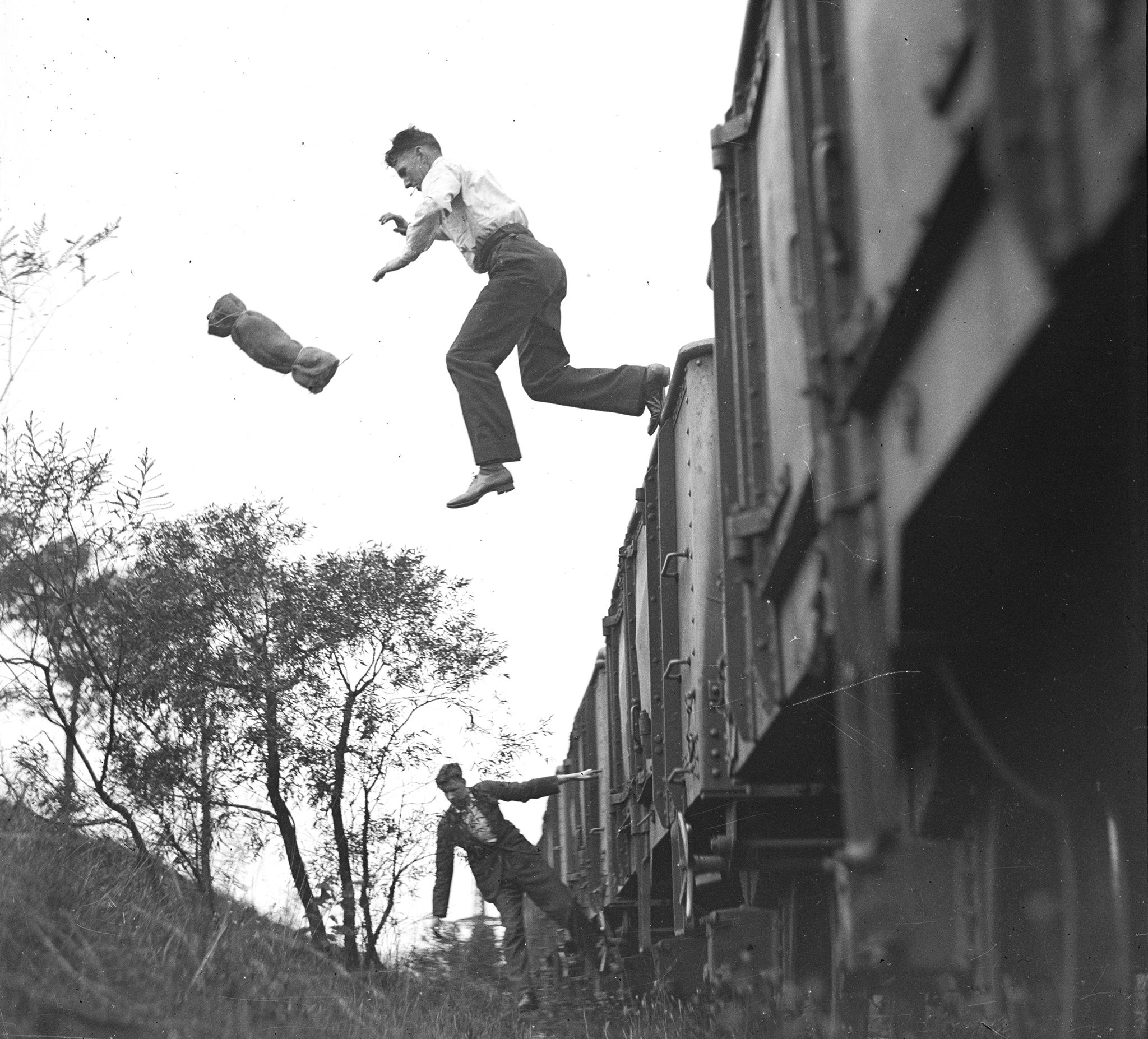 How to Jump from a Moving Train Using Science