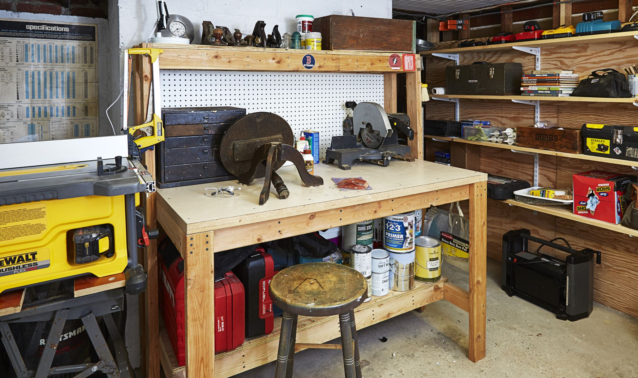 A Well-Lit Workshop: How To Turn Your Basement Into a DIY Utopia