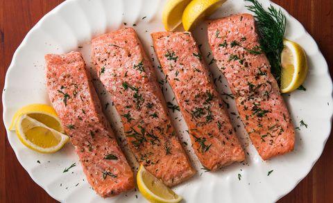 poached salmon horizontal