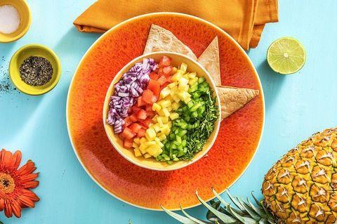 Plateau, Alimentation, Cuisine, Ingrédient, Produit, Alimentation végétarienne, Garniture, Superaliment, Ananas, Recette,
