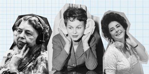 Vrouwen, headphones, podcasts, luisteren