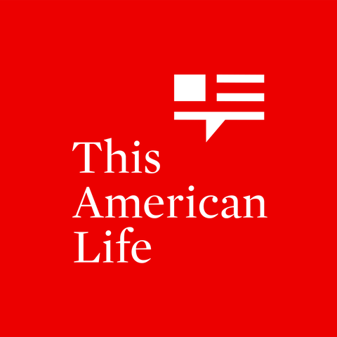 this american life in white on red background