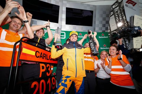 Carlos Sainz - Podio Brasil 2019