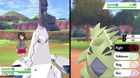 Pokemon Sword and Shield, Duraludon vs Tyranitar