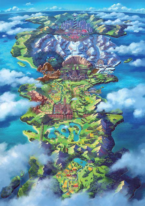 Pokemon Sword and Shield Galar region