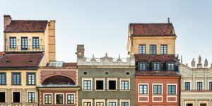 Poland, Warsaw, town houses in the old town
