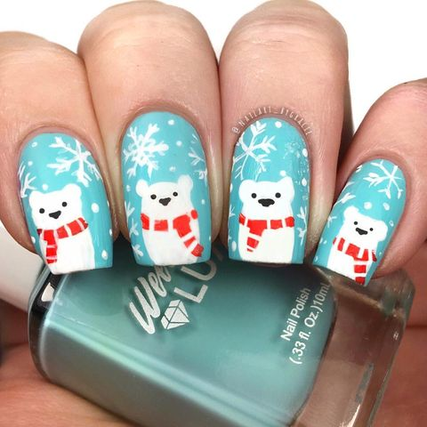 acrylic nails 2019 christmas nail designs best season ideas. Black Bedroom Furniture Sets. Home Design Ideas