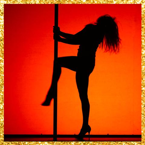 Silhouette, Pole dance, Dance, Athletic dance move,