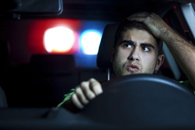 police car in pursuit