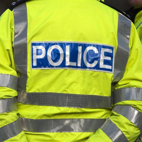 police motobike crash runner