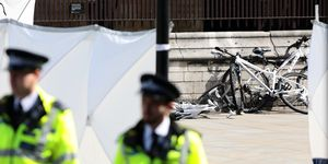 Pedestrians Injured As Car Crashes Into Security Barriers At Westminster