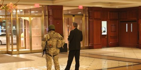 Police in Lobby of Sheraton Boston