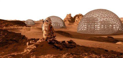 Plantean viviendas en Marte con recursos 'in situ'