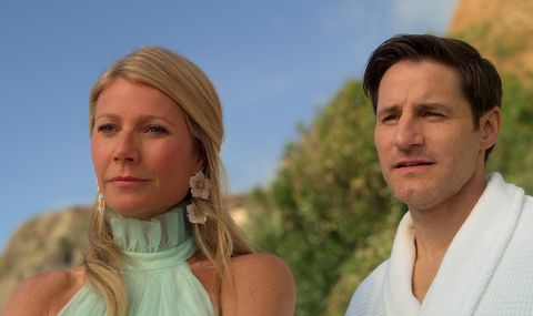 the politician l to r gwyneth paltrow as georgina hobart and sam jaeger as tino mccutcheon in episode 3 of the politician cr courtesy of netflixnetflix © 2020