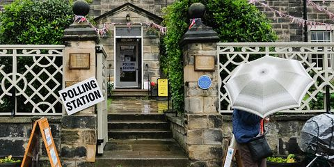 Voters go to polling booth