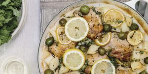 Pollo al limón en el horno