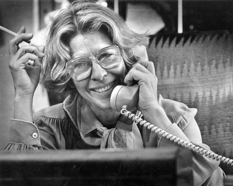 mar 28, 1984 polly platt on the phone at her office at paramount pictures for obit