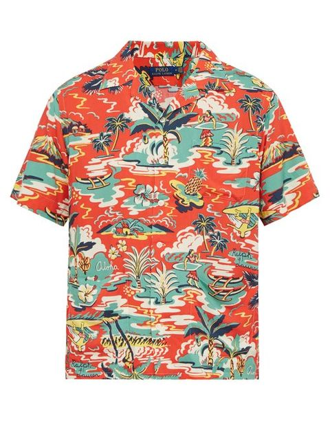 Camisas hombre manga corta tropical