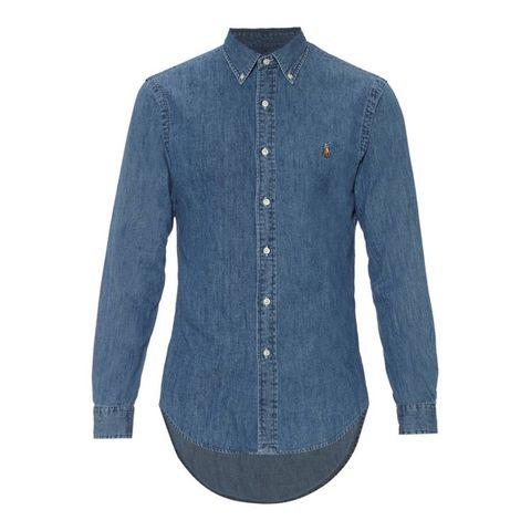 polo ralph lauren slim fit denim overhemd