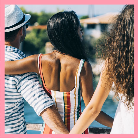 Summer, Fun, Friendship, Vacation, Leisure, Photography, Black hair, Bikini, Long hair, Back,