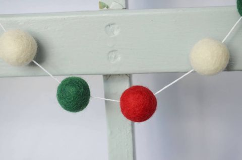 Pom Pom Christmas Garland photo