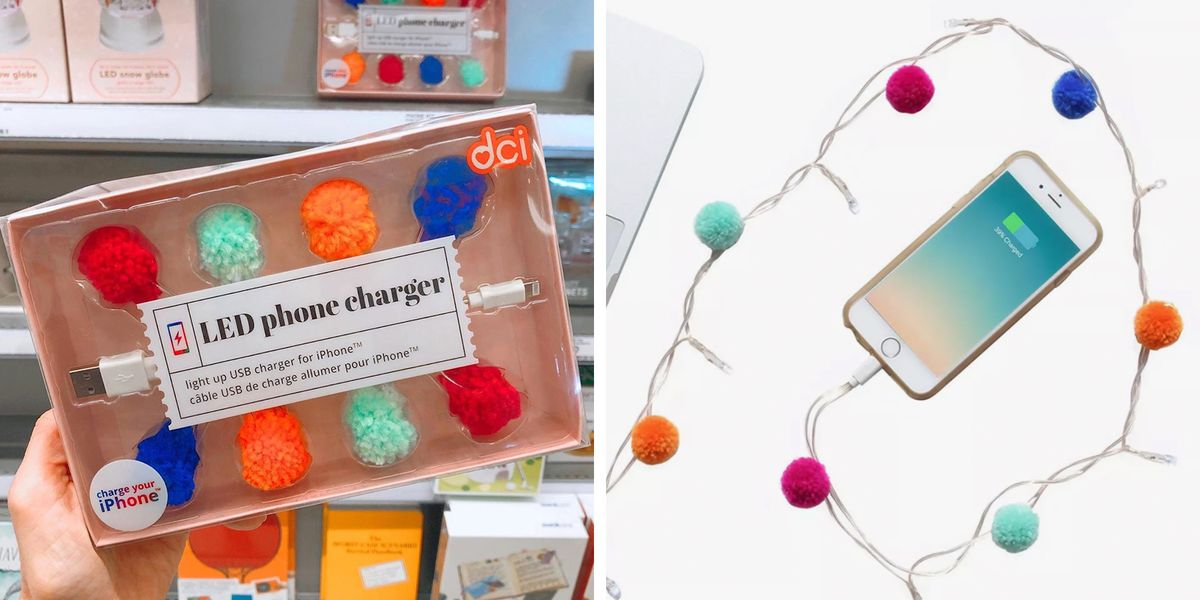 Target Is Selling a Pom Pom Charger That Lights Up as You Juice Up Your Phone