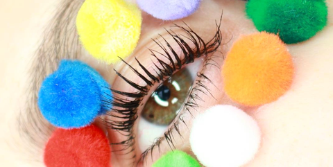 f34993c3656 Pom Pom Makeup Is The Latest Cute and Crafty Beauty Trend