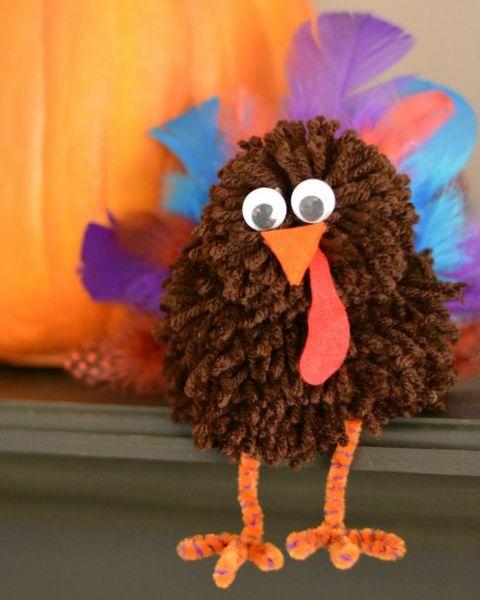 pom pom thanksgiving crafts