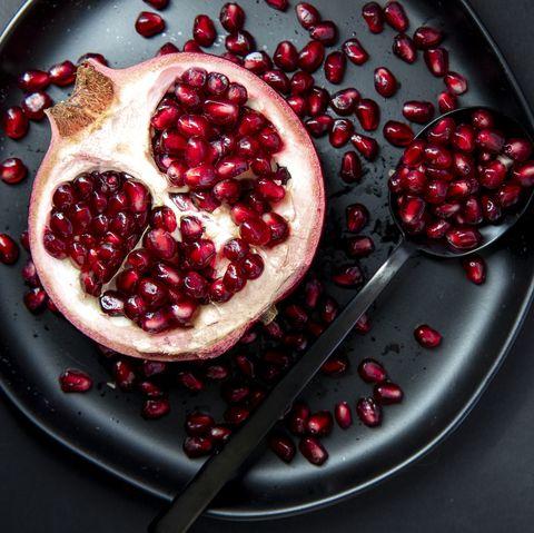 Pomegranate Half on Plate