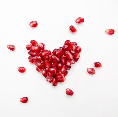 Pomegranate seed heart