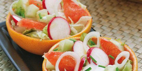 Dish, Food, Cuisine, Ingredient, Salad, Vegetable, Grapefruit, Produce, Vegetarian food, Recipe,