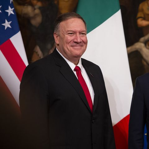 Italian Prime Minister Giuseppe Conte Meets United States Secretary of State Mike Pompeo