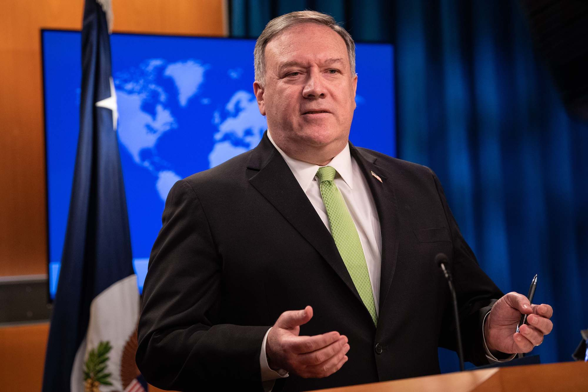 Mike Pompeo Won't Comment on Personnel Matters. Except the Inspector General—That Guy Sucked!