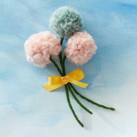 handmade pompom flowers