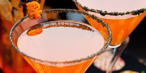 Ponche burbujeante de naranja