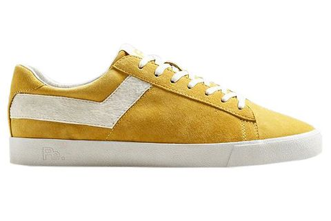 Footwear, Sneakers, Shoe, Yellow, Beige, Skate shoe, Plimsoll shoe, Athletic shoe, Outdoor shoe, Walking shoe,