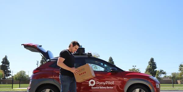 Robotaxi Service Pony.Ai Begins Offering Autonomous Deliveries