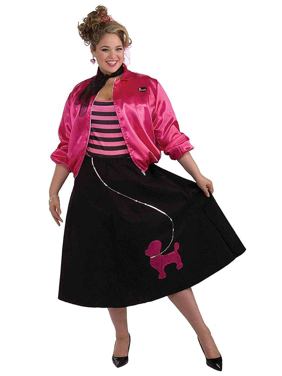 u002750s girl plus size costume  sc 1 st  Womanu0027s Day & 20 Cheap Plus Size Womens Halloween Costume Ideas - Cute Costumes ...