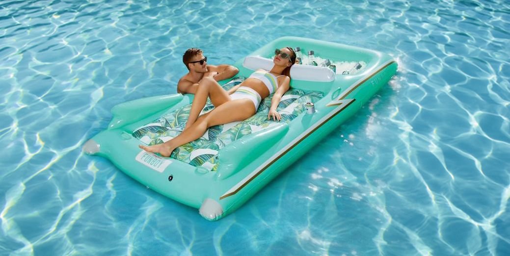This Retro Convertible Pool Float Has A Built In Cooler Fun Pool Float On Sale