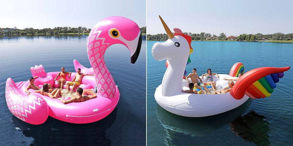 High Quality This Rainbow Unicorn Pool Float Fits Six People, Is Where The Partyu0027s At