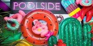 Poolside summer installation by John Lewis x Sunnylife at John Lewis Oxford Street