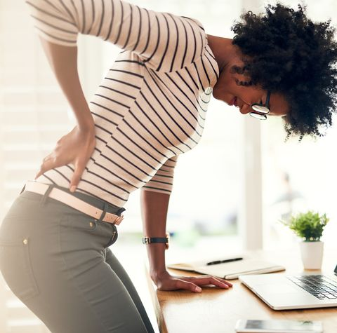 Poor posture can lead to back pain