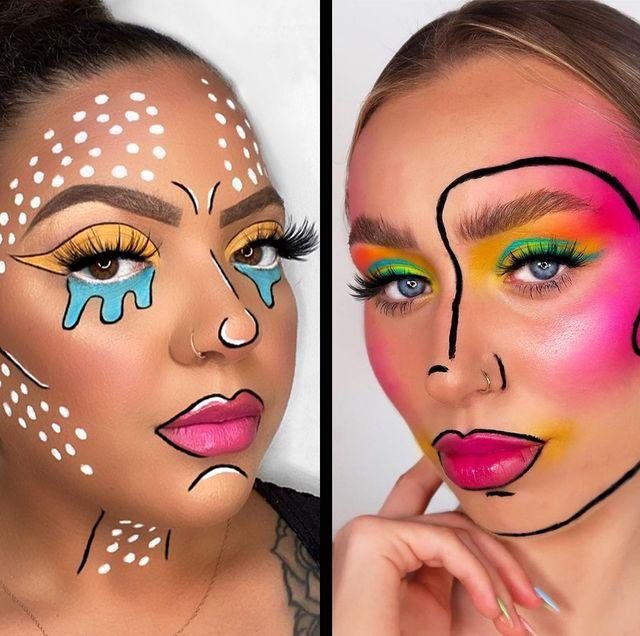pop art makeup halloween 2021