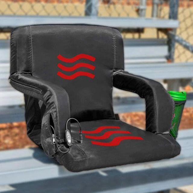 pop design the hot seat heated stadium seat