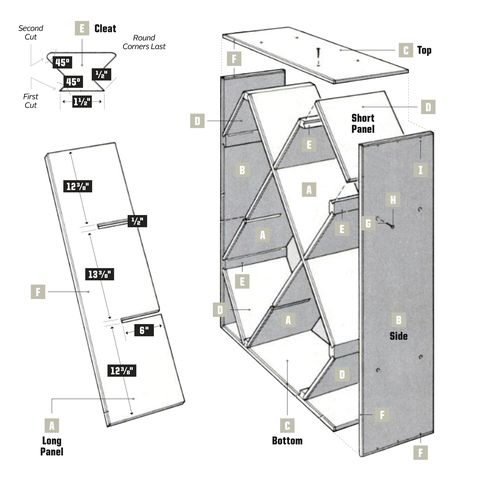 egg crate wine rack plans